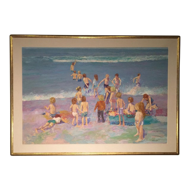Day at the Beach Painting by Anton Sipos - Image 1 of 4