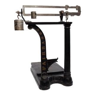 Antique Fairbanks Cast Iron Scale For Sale