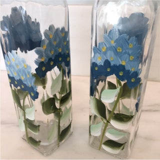 Hand Painted Oil Vinegar Set & Salt Pepper Shakers - 4 Pieces Preview