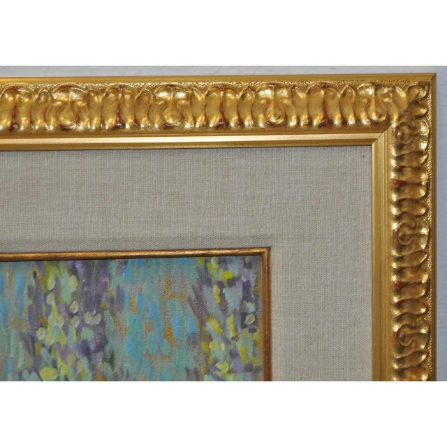 Vintage Impressionist Painting by Eva Sikorski For Sale In San Francisco - Image 6 of 8
