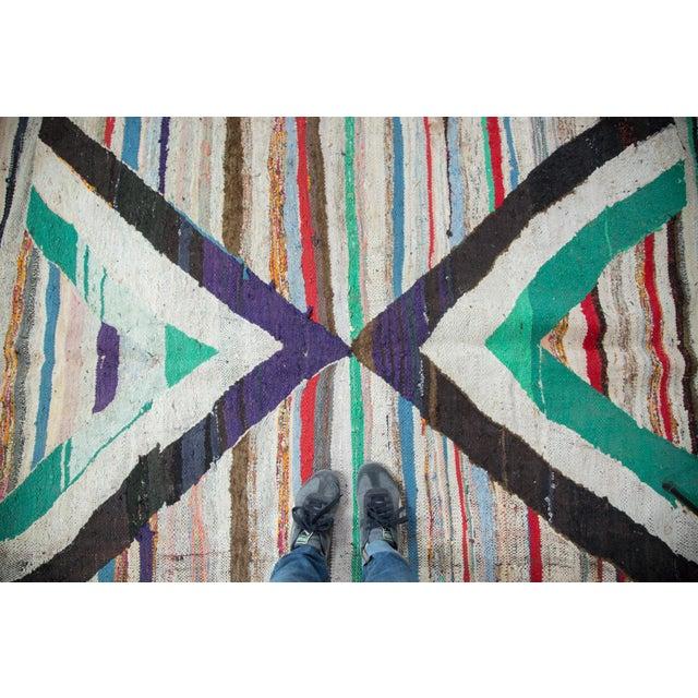 "Vintage Rag Rug Carpet - 5'1"" X 8' - Image 5 of 9"