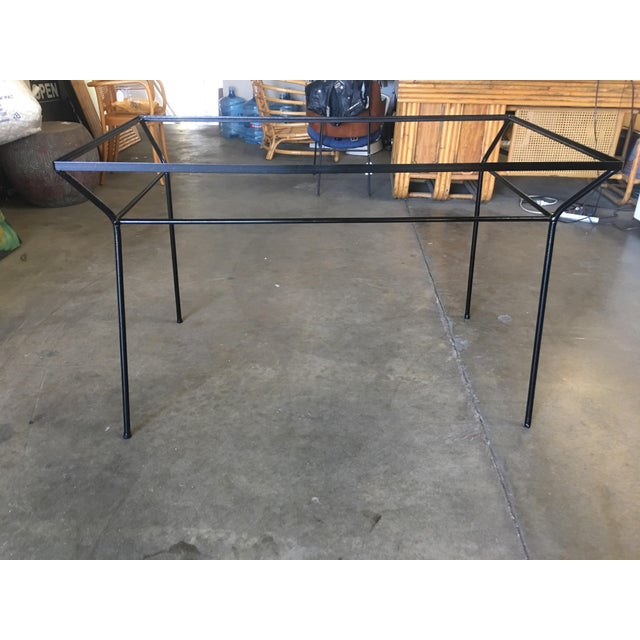 Art Deco Art Deco Modernist Iron and Glass Patio/Outdoor Table For Sale - Image 3 of 6