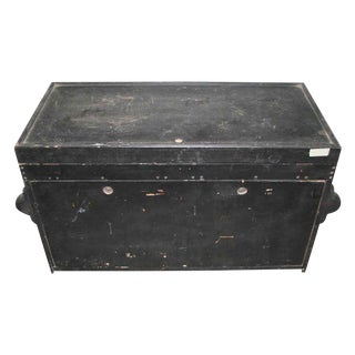 Vintage Black Tool Trunk With Rivets