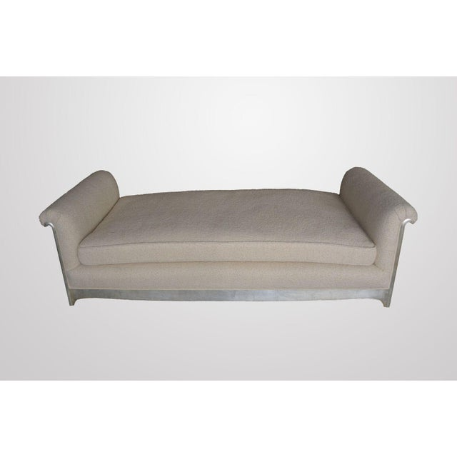 Art Deco / Moderne Silver Leafed Daybed For Sale - Image 9 of 9