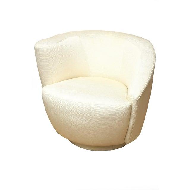 "1970s Vintage Vladimir Kagan"" Nautilus"" Swivel Lounge Chairs- A Pair For Sale - Image 10 of 11"