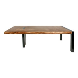 Industrial Custom Craft Parota Tree Console Table For Sale