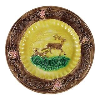 Majolica Deer & Dog Charger