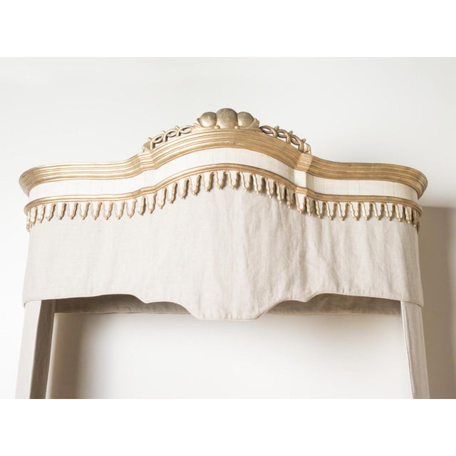 French Queen Bed Size Louis XVI Style Cornice Headboard For Sale - Image 3 of 5