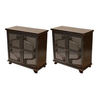 Ebonized Biedermeier Style Bookcases - a Pair