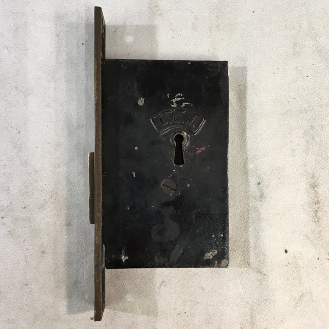 Antique Victorian Pocket Door Mortise Lock Boxes - a Pair For Sale - Image 4 of 11
