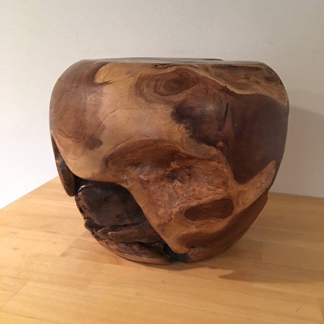 Teak Root Wood Accent Side Table Base - Image 4 of 6