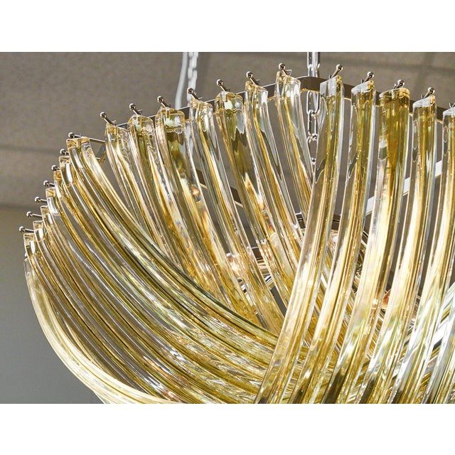 "Customizable Murano Glass ""Curve"" Chandelier For Sale - Image 4 of 10"