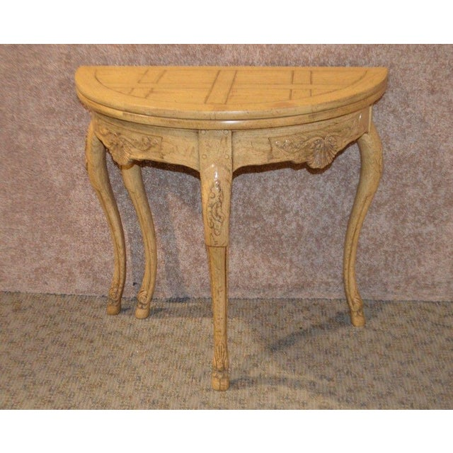 Baker Country French Style Flip Top Card Table For Sale - Image 13 of 13