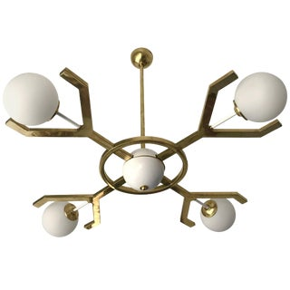 Contemporary Brass Chandelier Y For Sale