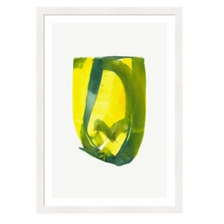 Framed in White 'Color Study 7' Watercolor Print on Textured Paper by Encarnacion Portal Rubio For Sale