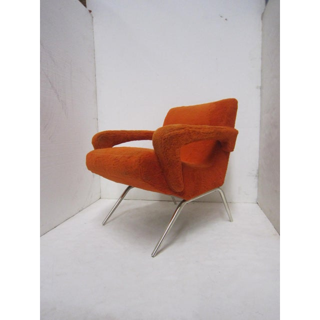 Mid-Century Italian Upholstered Lounge Slipper Chairs - a Pair For Sale - Image 9 of 13