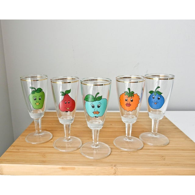 Cordial Fruit Face Shot Glasses - Set of 5 - Image 7 of 7
