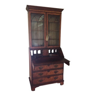 1970s American Classical Bristol House at Beacon Hill Secretary Desk and Cabinet For Sale