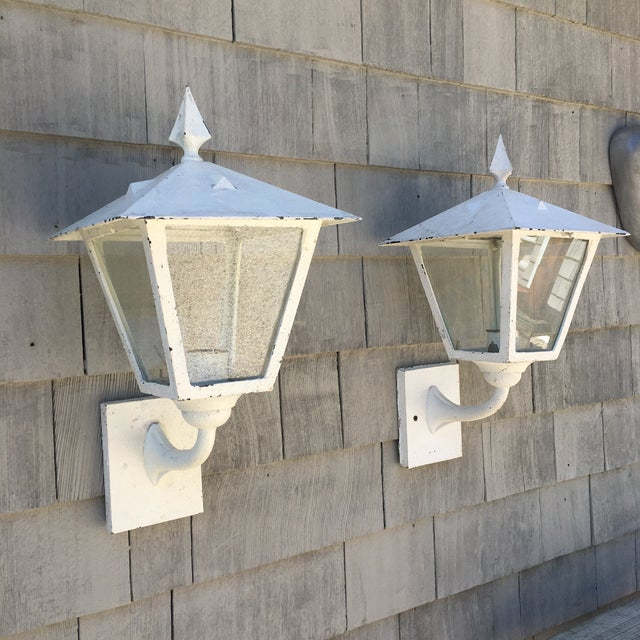 1940s Outdoor Lanterns - a Pair For Sale - Image 4 of 4