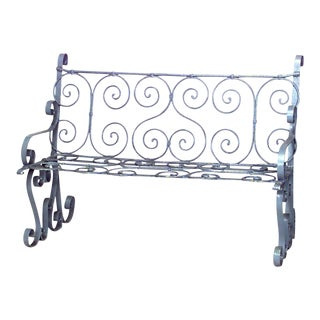 Outdoor Victorian Painted Iron Loveseat For Sale