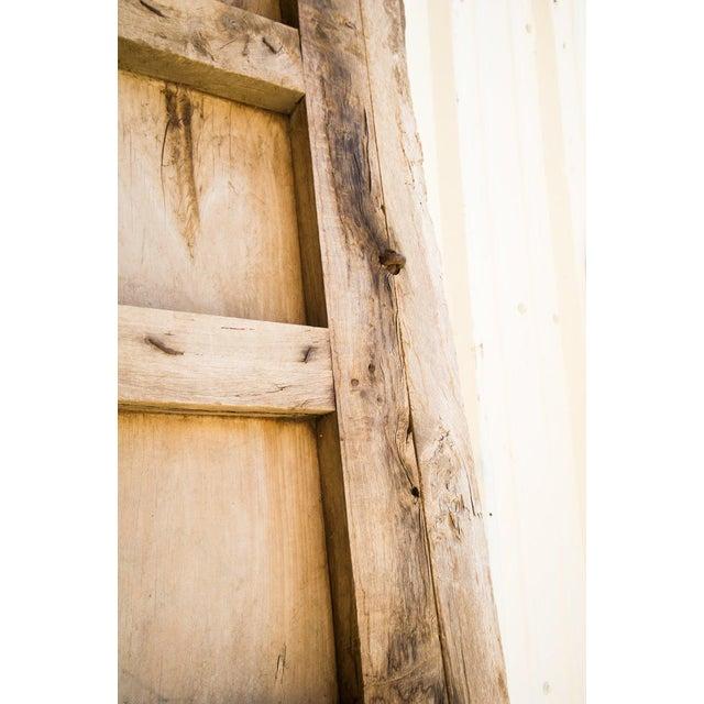Tan Antique Guadalajaran Exterior Swinging Mesquite Rustic Doors - A Pair For Sale - Image 8 of 11