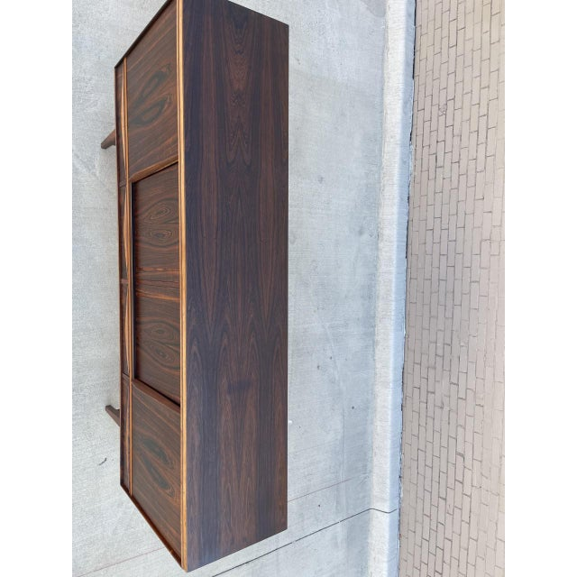Coffee Arne Vodder Style Rosewood Highboard For Sale - Image 8 of 11