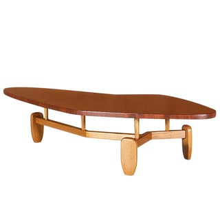"John Keal for Brown Saltman ""Outrigger"" Floating Top Coffee Table For Sale"