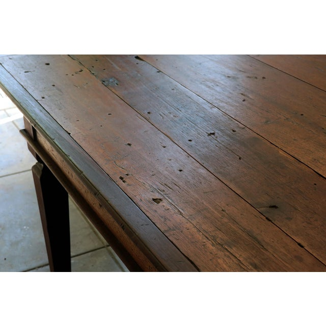 Country 19th C. Portuguese Rosewood Dining Table For Sale - Image 3 of 11