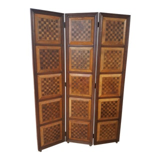 Sarreid Chess Motif Room Divider For Sale