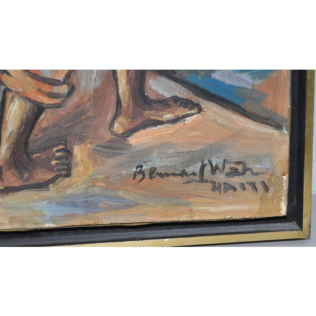 Edouard Wah Haitian Original Oil Painting C.1960s - Image 3 of 7