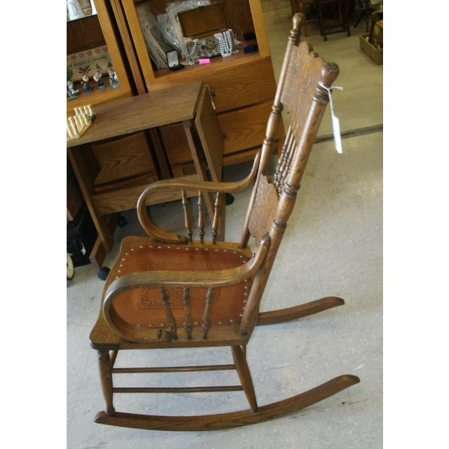 Larkin rocking chair made by the Larkin Company, suspected age 1920's when Larkin Company was at it's height of buyer...