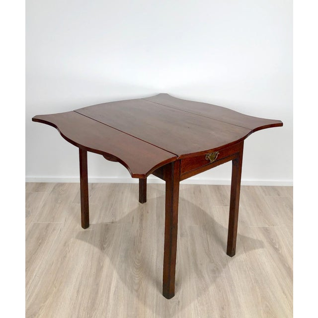 Late 18th Century Late 18th Century Serpentine Pembroke Table For Sale - Image 5 of 9