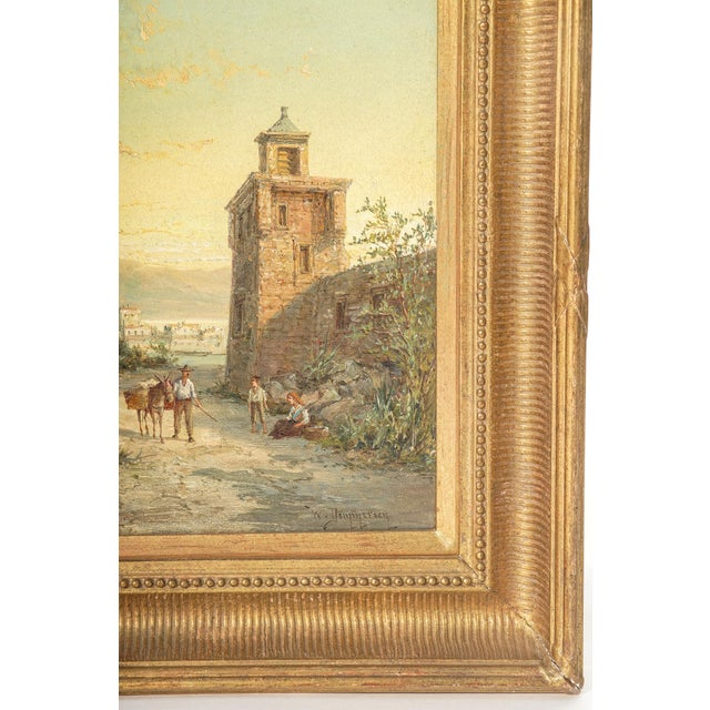 Impressionist 19th Century Signed Listed Artist Wm. R. Dommeson For Sale - Image 3 of 4