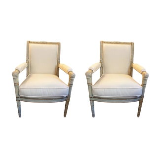 Pair of Consulate Style Fauteuils