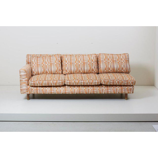 Rare sectional sofa designed by Edward Wormley, manufactured by Dunbar. The sofa consists of three parts - two three-...