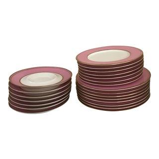 Vintage Mikasa Pink Bone China Dishes - Set of 29