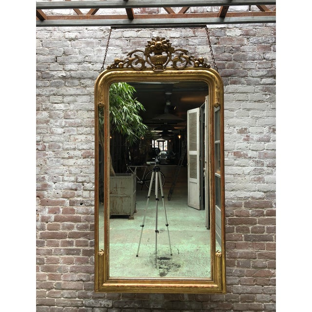 19th century mirror, gold leaf gilded in the style of Louis Philippe, Provenance France This 19th Century Mirror is...