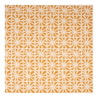 Justina Blakeney Monterey Printed Cotton and Linen Fabric, Daffodil For Sale