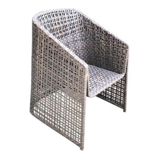 Woven Patio Barrel Chair For Sale