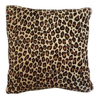 Leopard Pillow Cowhide Leather Pottery Barn For Sale