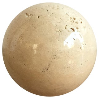 Polished Travertine Paperweight by Roche Bobois, France, 1970s For Sale