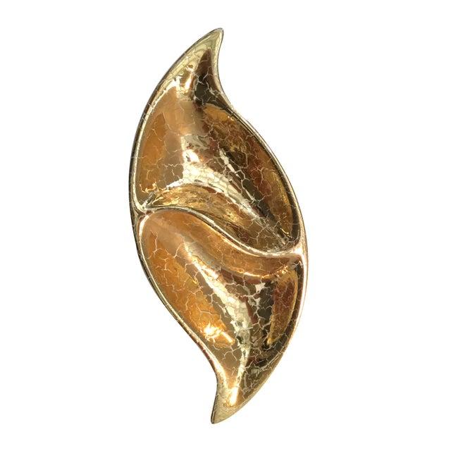 Vintage Gold Leaf Dish For Sale - Image 4 of 6