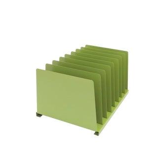 Tanker Desk File Folder Holder Record Album Rack Desk Office Organizer - Lime Green For Sale