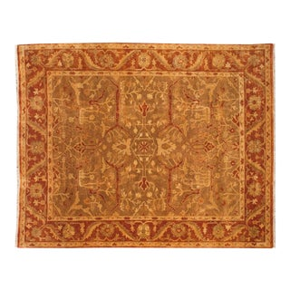 "New Gold Wash Indian Oushak Design Carpet - 8' X 9'10"" For Sale"