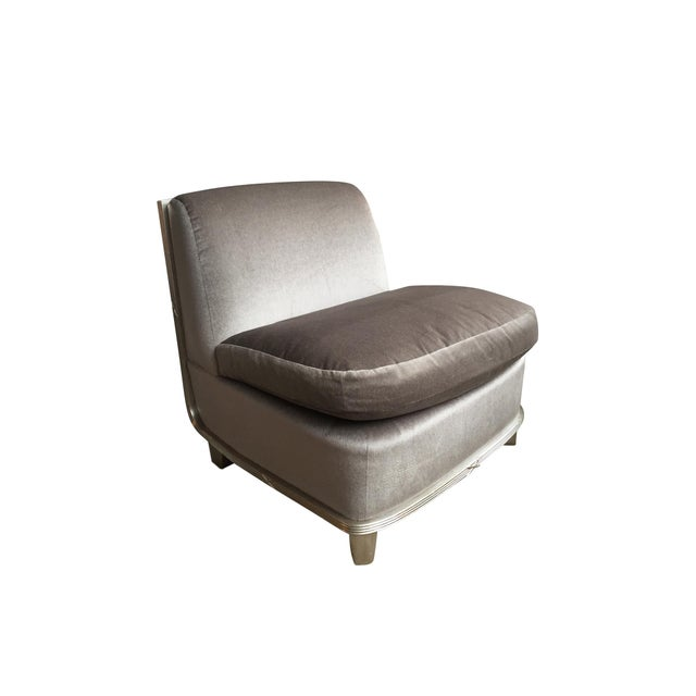 1960s Silver Mohair Lounge Chair in the Style of James Mont For Sale - Image 13 of 13