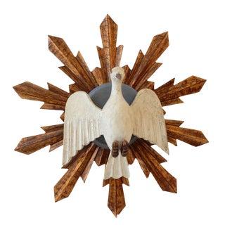 Wooden Dove Sunburst For Sale