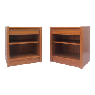 Danish Modern Teak Nightstands- a Pair For Sale