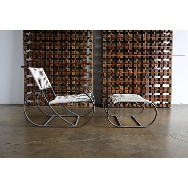 Bronze Outdoor Lounge Chair and Ottoman by Kipp Stewart for Terra of California For Sale - Image 10 of 13