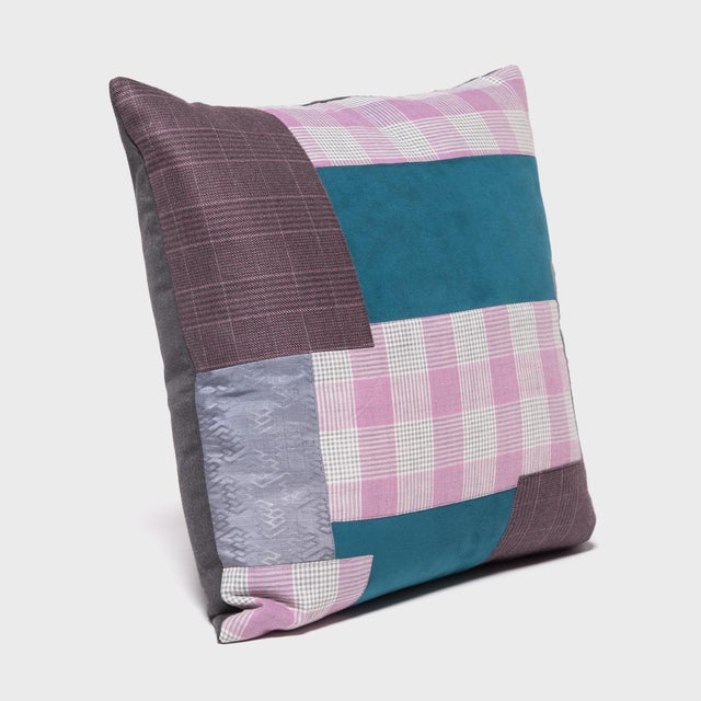 Japanese Suiting Throw Pillow For Sale - Image 4 of 6