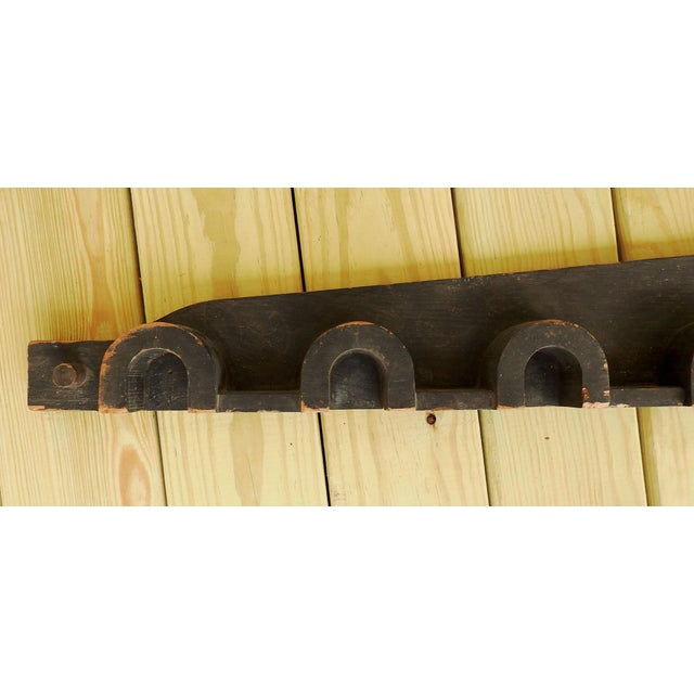 Vintage Wood Industrial Foundry Mold Pediment For Sale - Image 4 of 8